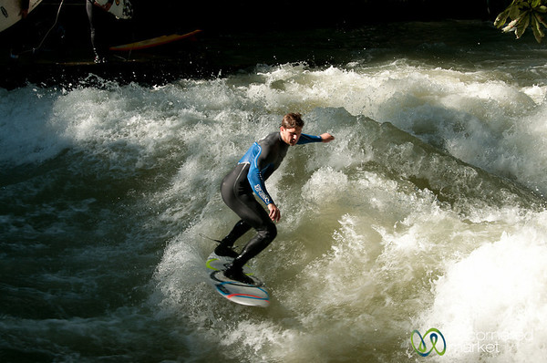 Surfing in Munich - Bavaria, Germany