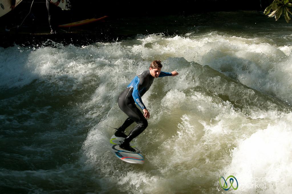 Surfing in Munich - Bavaria, Germany