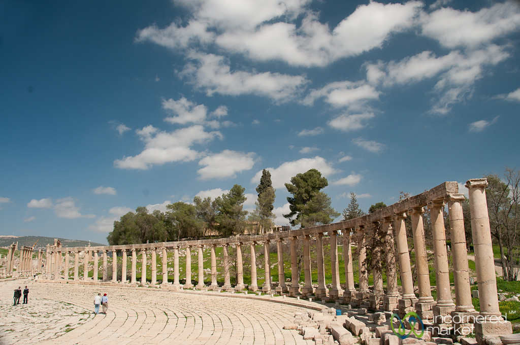 Oval Forum of Ancient Jerash, Jordan