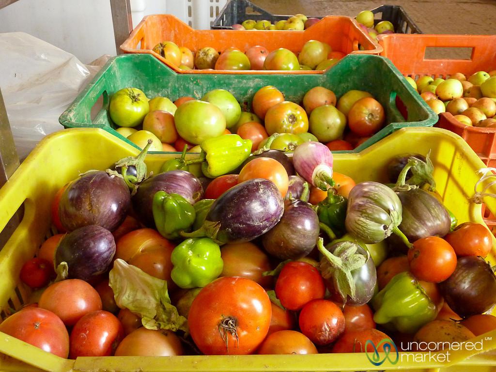 Piles of Vegetables for Cretan Food