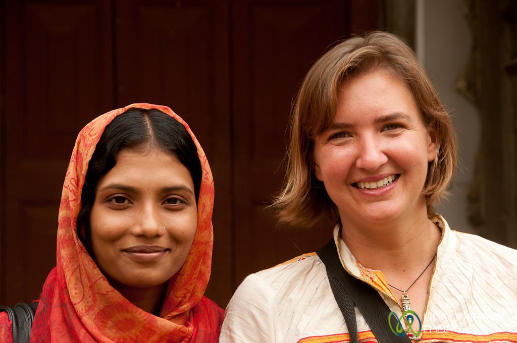 Audrey with Univeristy Student at Varendra Museum - Rajshahi, Bangladesh