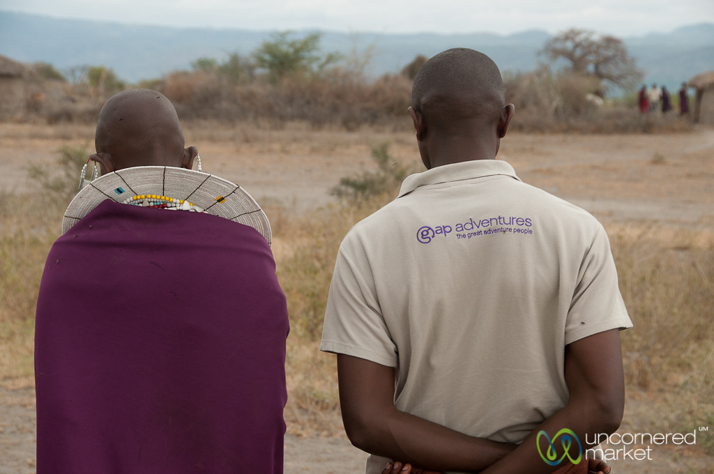 Gap Adventures CEO with Masai Man - Lake Manyara, Tanzania