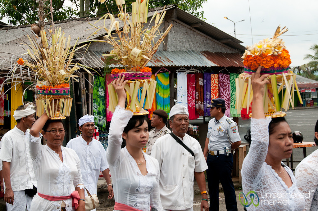 Women Carrying Offerings in Funeral Procession - Bali, Indonesia