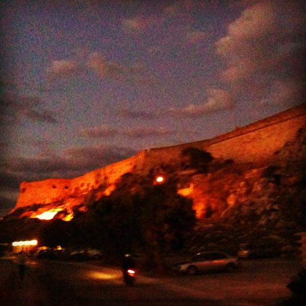 Rethymnon's fort at night. #Crete