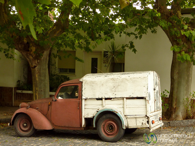 Old Truck on the Streets of Colonia, Uruguay