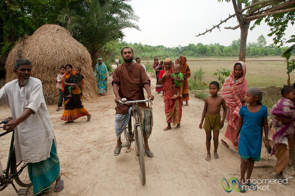 Typical Village Scene in Hatiandha, Bangladesh