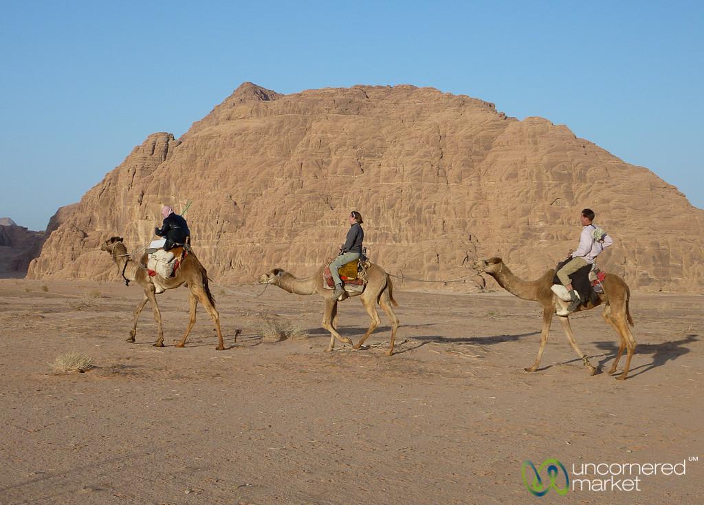 A Camel Ride Through Wadi Rum Desert, Jordan