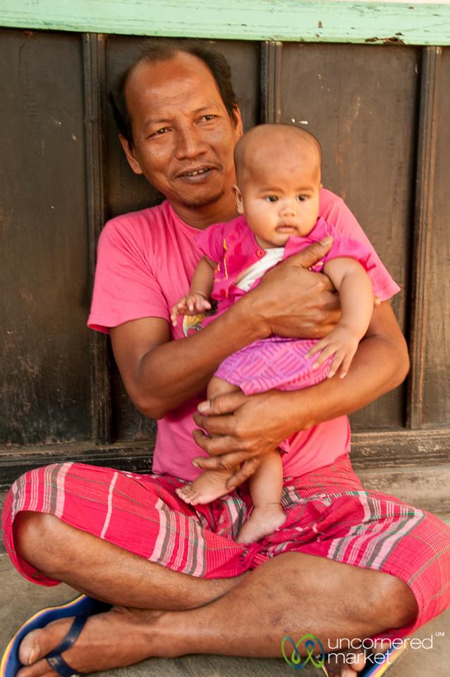 Father and Baby at Khashia Village - Outside Srimongal, Bangladesh