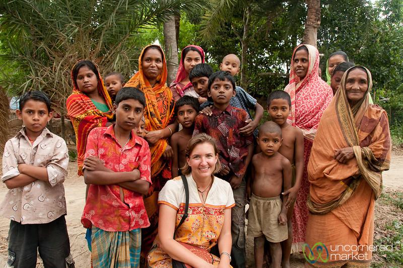 Audrey with Kids and Mothers - Hatiandha, Bangladesh