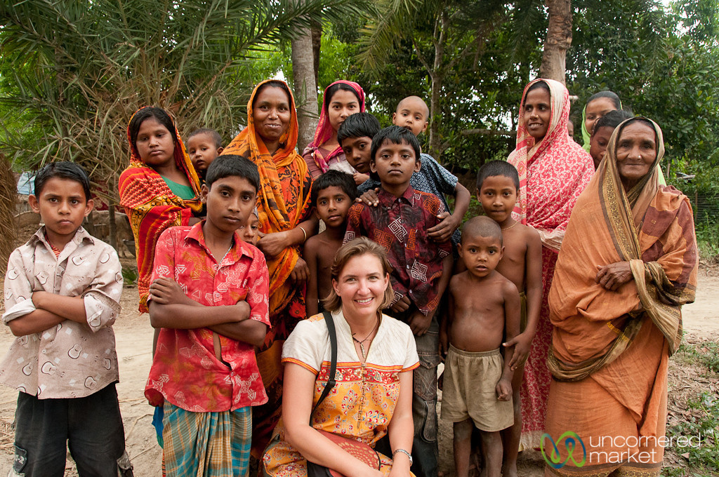 Audrey with Kids and Mothers - Hatiandha, Bangladesh