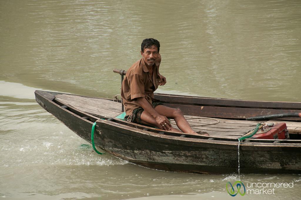 Man on a Boat - Bangladesh