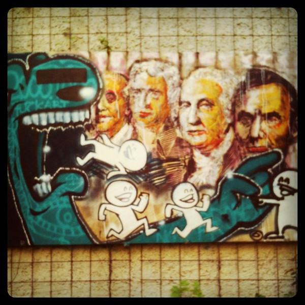 #berlin graffiti, American presidents.