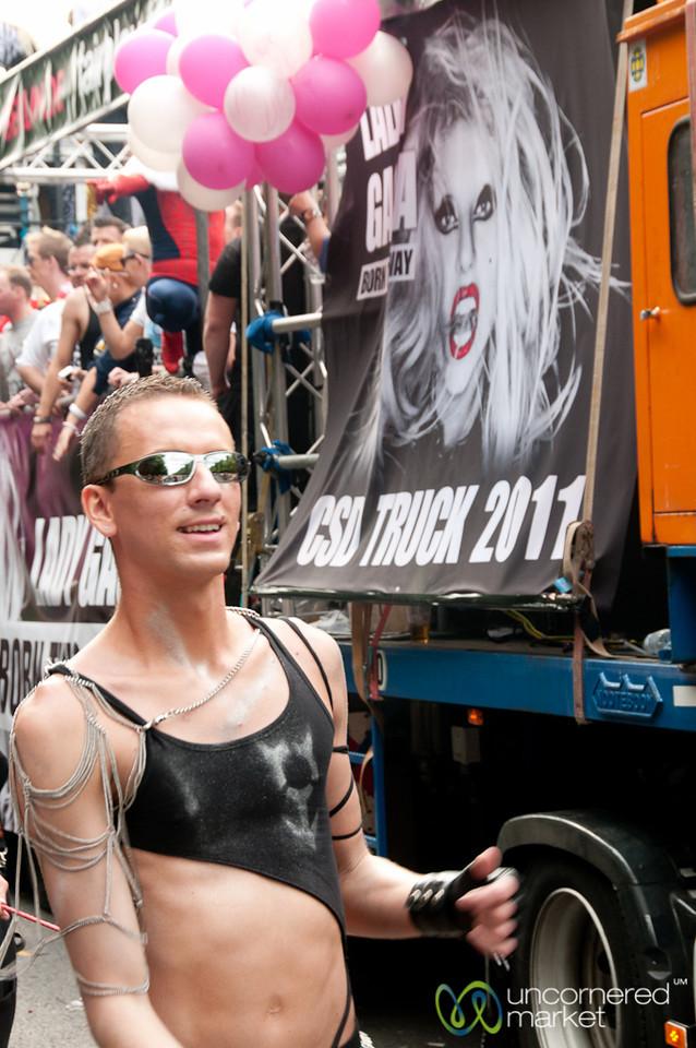 Lady Gaga Float at Gay Pride Parade - Berlin, Germany