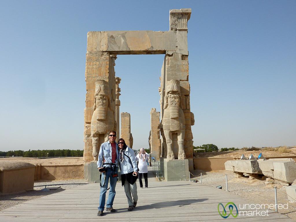 Dan & Audrey at Persepolis, Iran