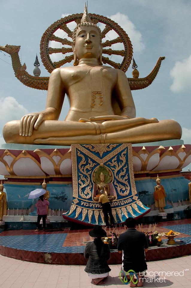 Special Prayers at Big Buddha Temple - Koh Samui, Thailand