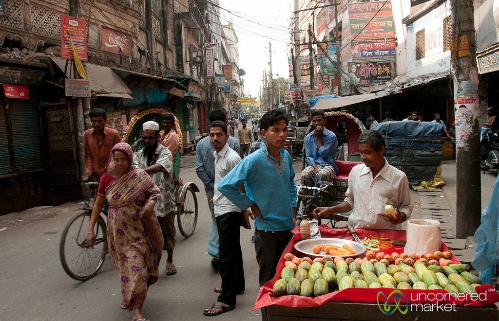 Street Scene in Shakhari Bazar - Dhaka, Bangladesh