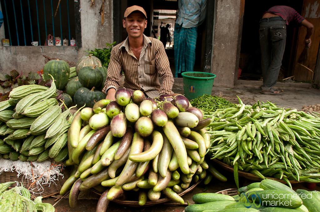 Big Piles of Eggplant - Srimongal Market, Bangladesh