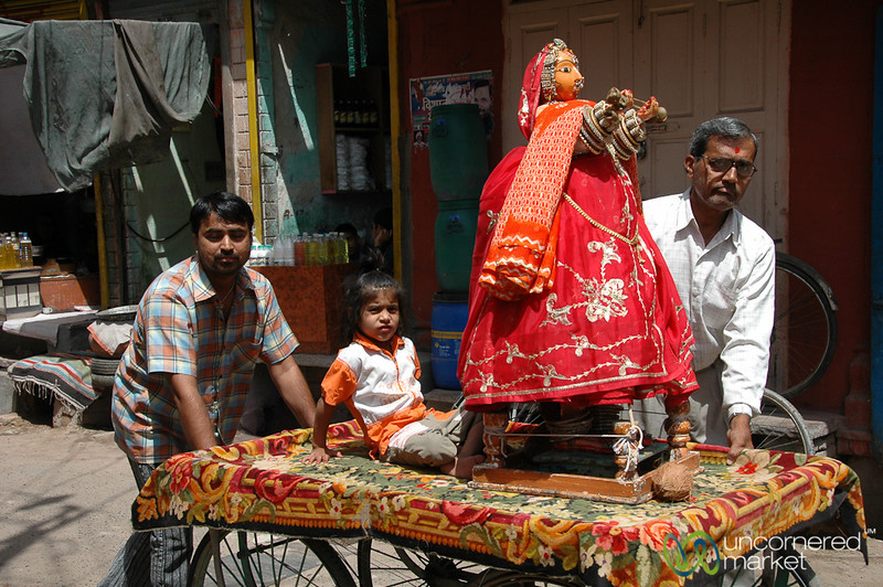Ceremony with Floats in Bikaner, India