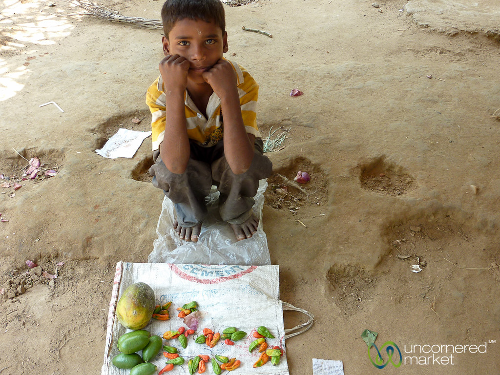Young Boy Selling Chili Peppers - Madhabpur Lake, Bangladesh