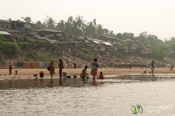 Village on Shangu River - Bandarban, Bangladesh