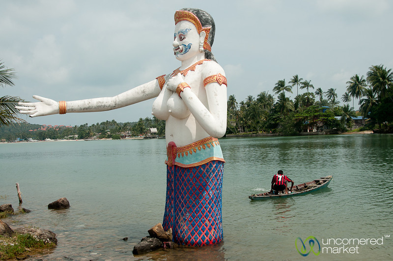 An Unusual Welcome to the Water - Big Buddha, Koh Samui