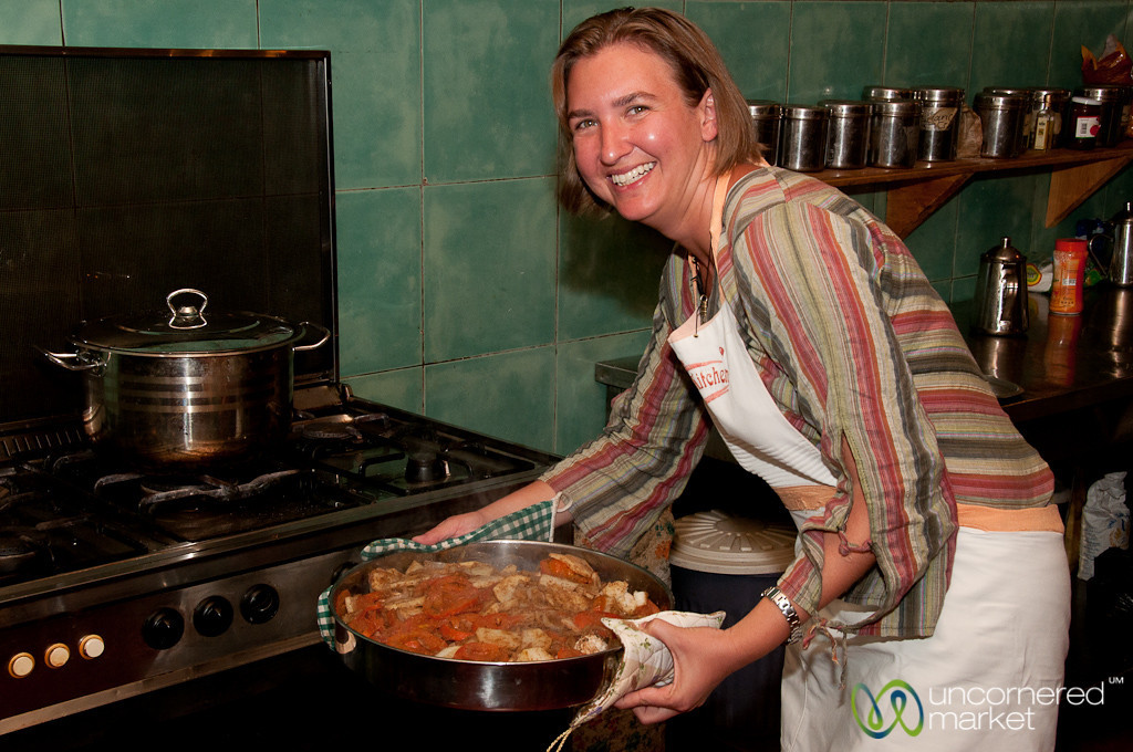 Baking the Suniyat Dijaj - Petra Kitchen, Jordan