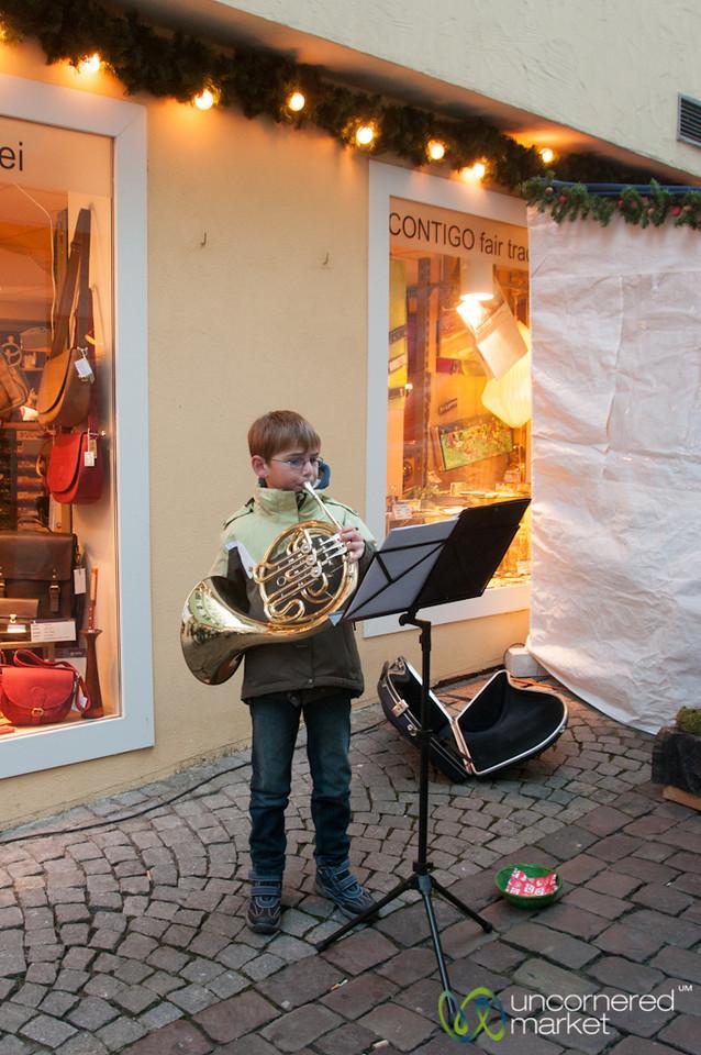 Tübingen Christmas Market, Boy Musician - Baden-Württemberg, Germany