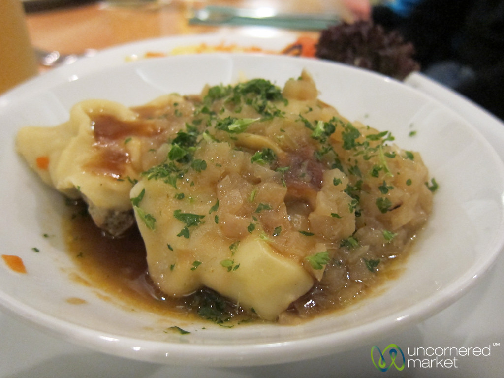 Maultaschen in Onions and Broth - Stuttgart, Germany