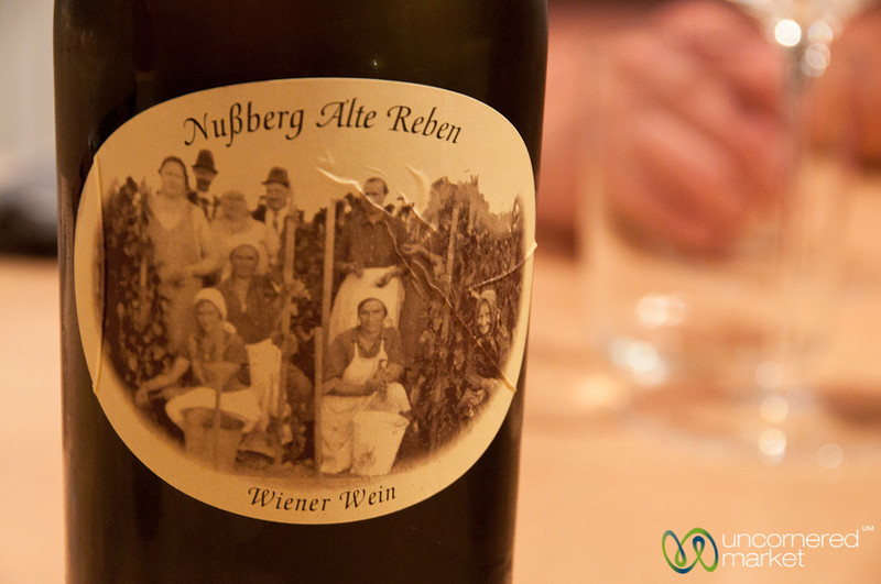 A Photo of the Wieninger Family Appears on the Label - Vienna, Austria