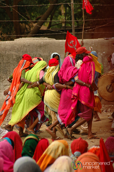 Dancing at the Rally - Mumbai, India