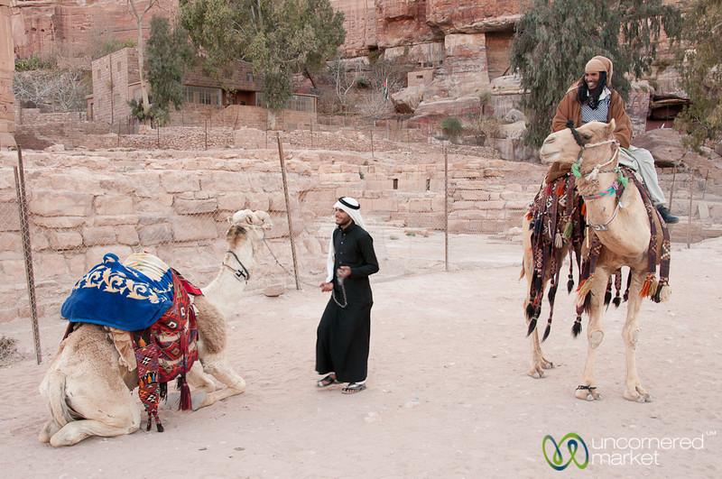 Hopping on the Camel to Go Home - Petra, Jordan