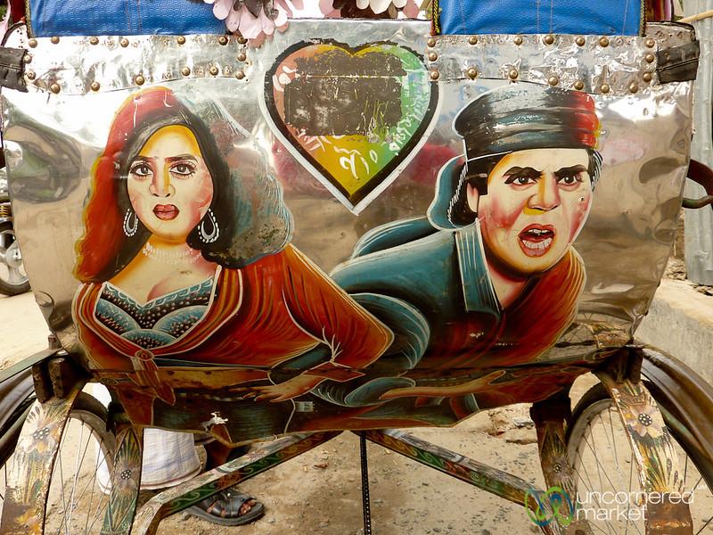 Bollywood Drama as Rickshaw Art - Rajshahi, Bangladesh