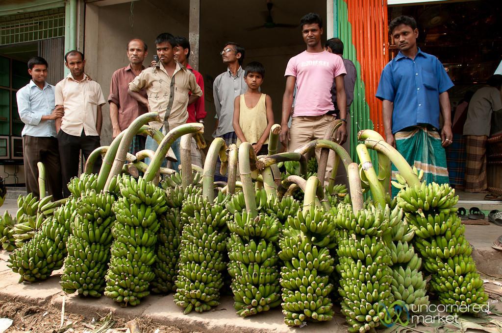 Men with Piles of Bananas - Srimongal, Bangladesh