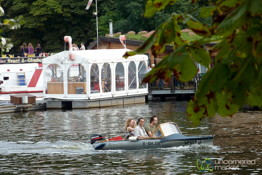 Boating around Treptower Park - Friederichshain, Berlin