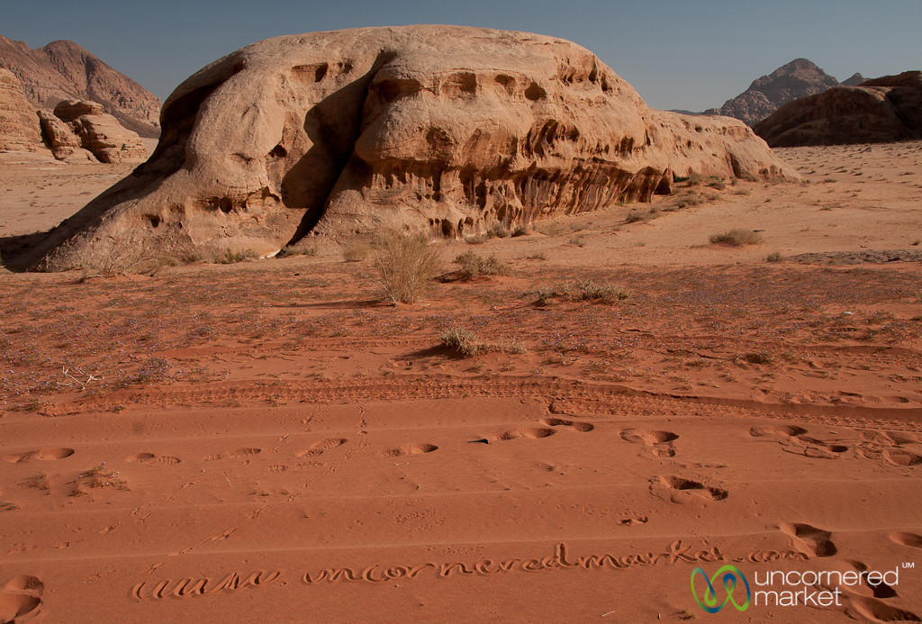 A Little Old Fashioned Marketing in the Sands of Wadi Rum, Jordan
