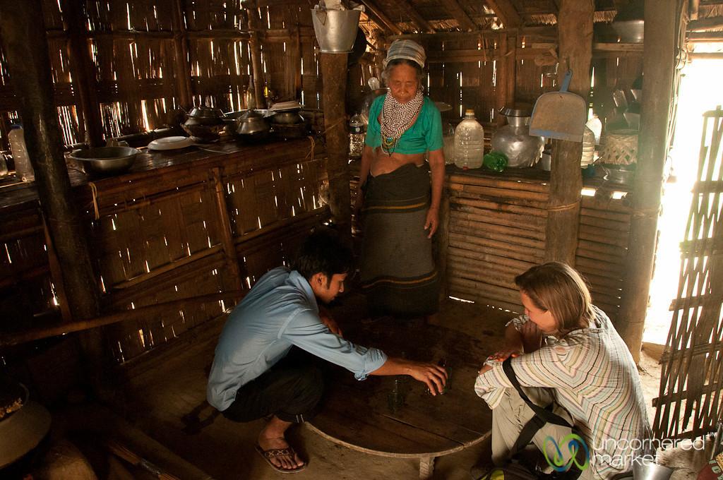 Drinking Rice Wine in Tripura Village - Bandarban, Bangladesh