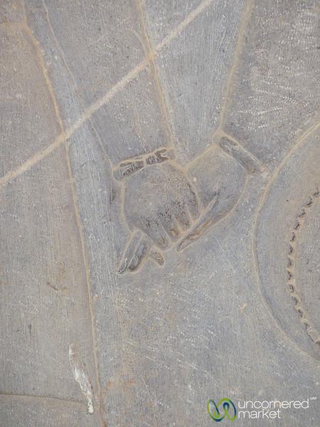 Apadana Palace Reliefs, Holding Hands - Persepolis, Iran