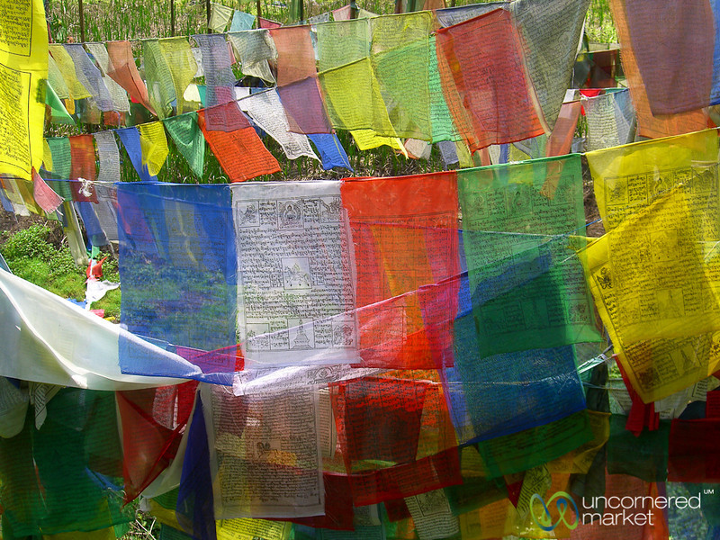 Colorful Prayer Flags at Lake Khecheopalri - Sikkim