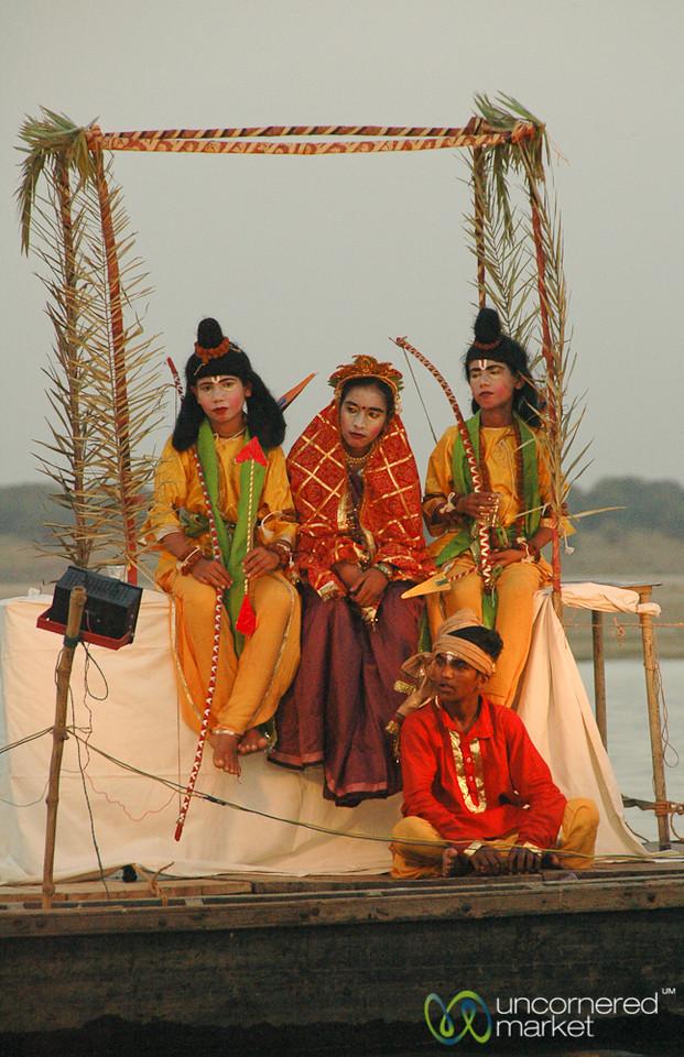 Hindu Play Along the Ganges River - Varanasi, India