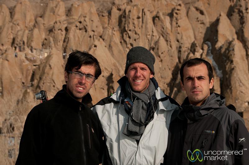 Dan with Iranian Friends - Kandovan, iran