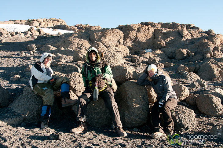 Resting at the Top - Mt. Kilimanjaro, Tanzania