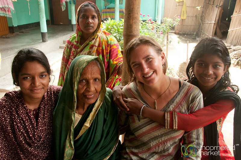 Audrey with the Women of Family - Hatiandha, Bangladesh