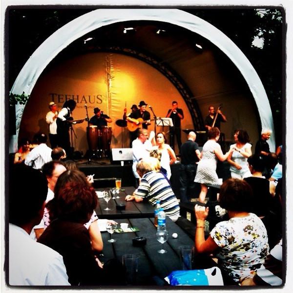 Free Cuban music concert at Teehaus in Tiergarten. Lots of good salsa moves all around. #berlin