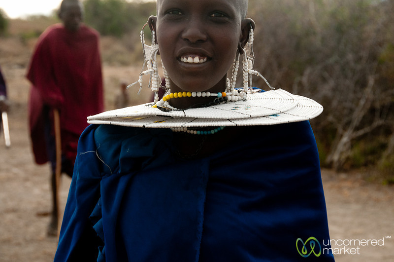 Masai Woman in Traditional Dress - Lake Manyara, Tanzania