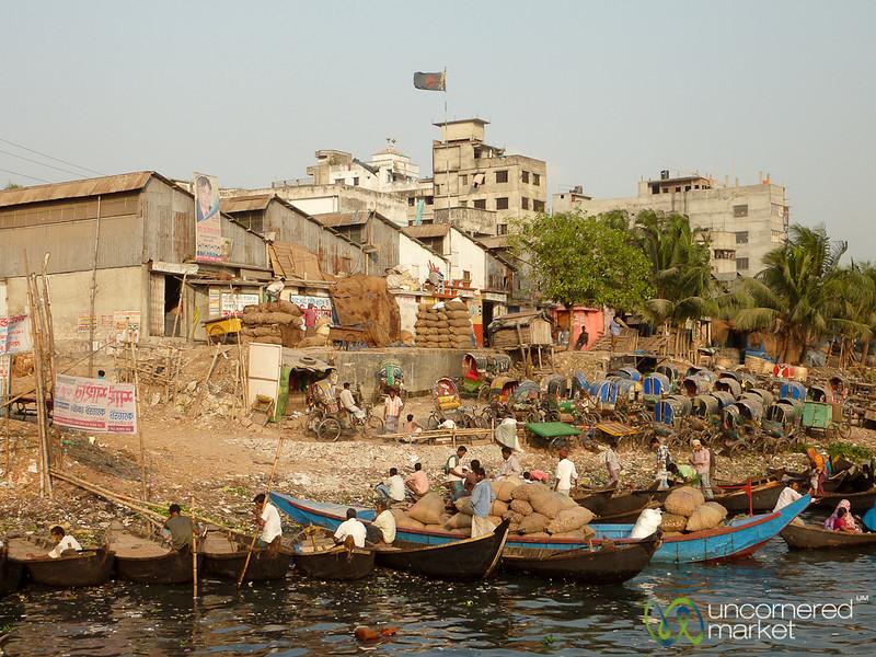 Old Rickshaws and Cargo at Sadarghat - Dhaka, Bangladesh