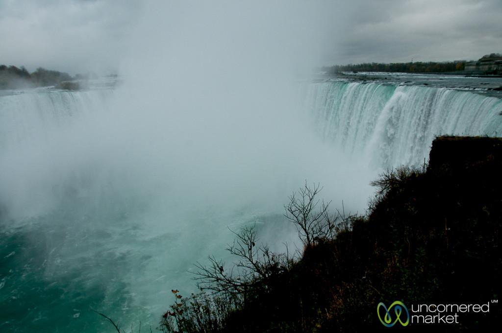 Looking Out Over Niagara Falls - Canada