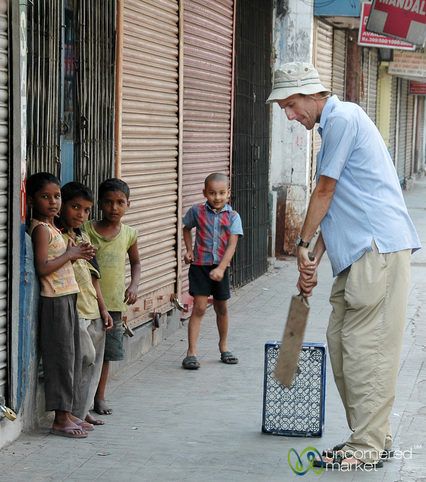 Playing Cricket on the Streets of Kolkata, India