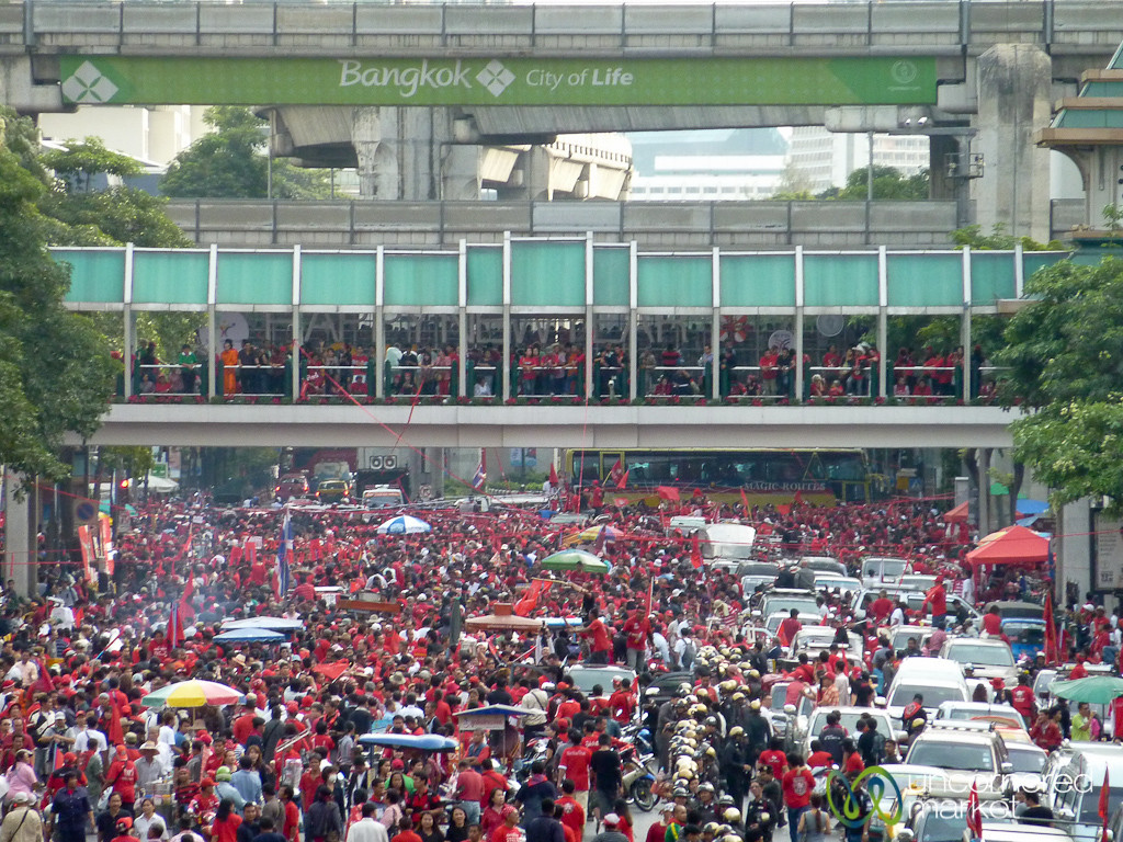 Red Shirt Demonstration in Bangkok, Thailand