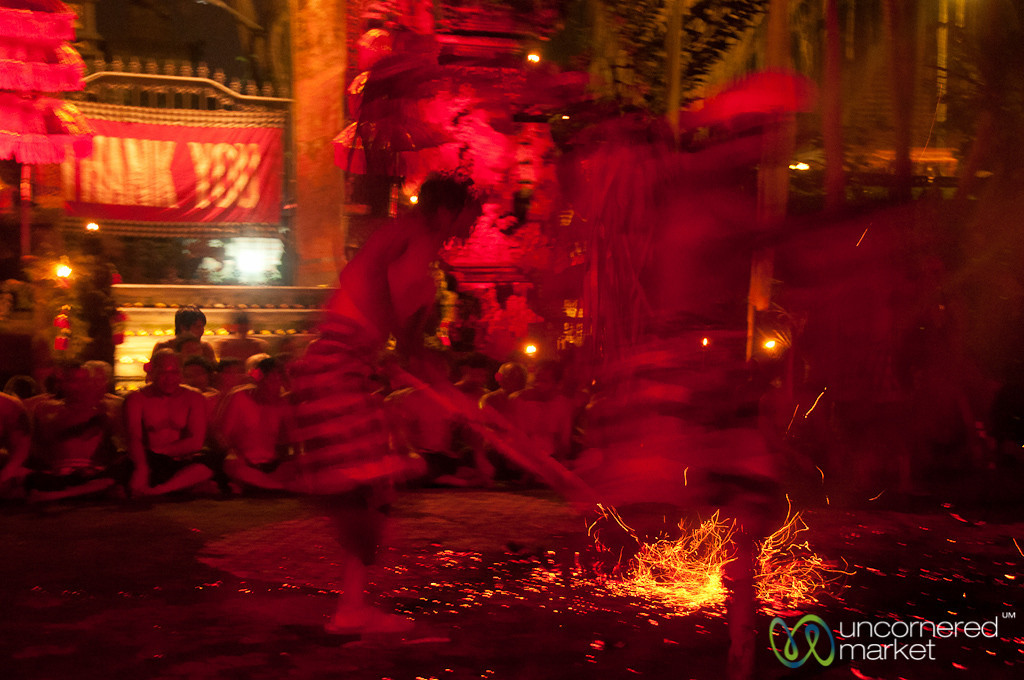 Cleaning Up at Fire Dance - Ubud, Bali