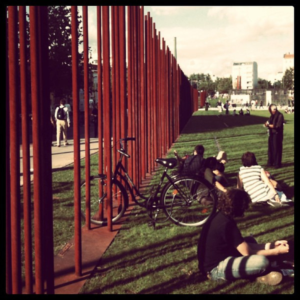 Where the Berlin Wall once stood, now a park.